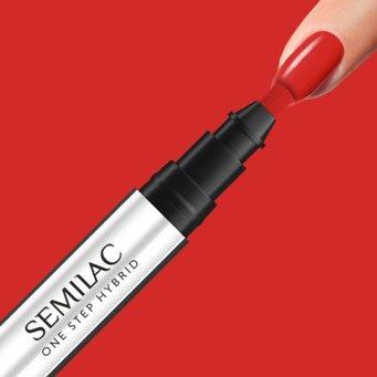 Semilac One Step Hybrid, lakier hybrydowy w markerze, 3ml, S530 Scarlet