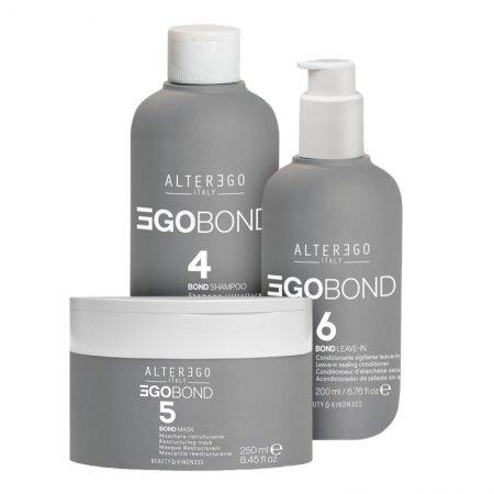 Alter Ego EgoBond, zestaw odbudowujący włosy po zabiegach chemicznych, 2x250ml + 200ml