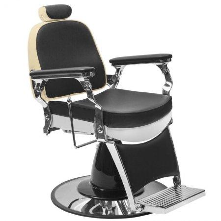 Fotel barberski Gabbiano Frederico, czarny