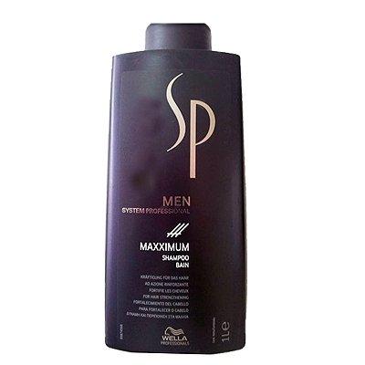 Wella SP Men Maxximum, szampon dla mężczyzn wzmacniający włosy, 1000ml