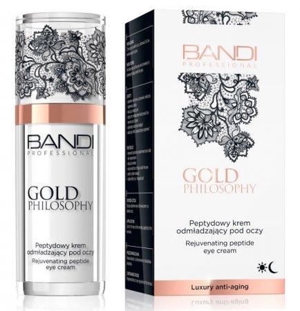 Bandi Gold Philosophy, peptydowy krem odmładzający pod oczy, 30ml
