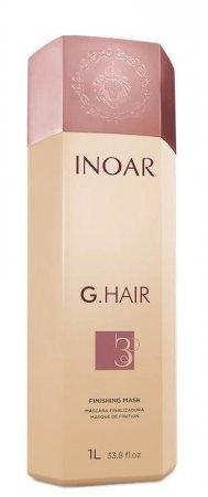 INOAR G-Hair, maska do zabiegu keratynowego prostowania, 1000ml