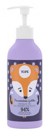 Yope, żel pod prysznic dla dzieci Pomarańcza i Jabłko, 400ml