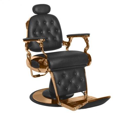 Fotel barberski Gabbiano Francesco Miedź, czarny