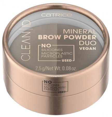 Catrice Clean ID, mineralny puder do brwi, duocolor 010, 2,4g