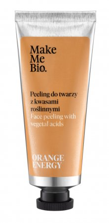 Make Me Bio Orange Energy, peeling do twarzy z kwasami roślinnymi, 40ml