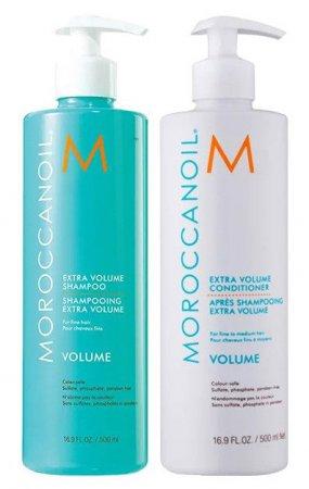 Moroccanoil Volume, zestaw nadający objętość, szampon 500ml + odżywka 500ml