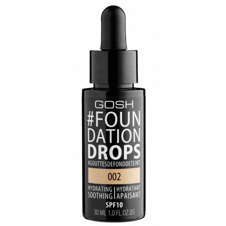 Gosh Foundation Drops, podkład nawilżająco-wygładzający, 30ml