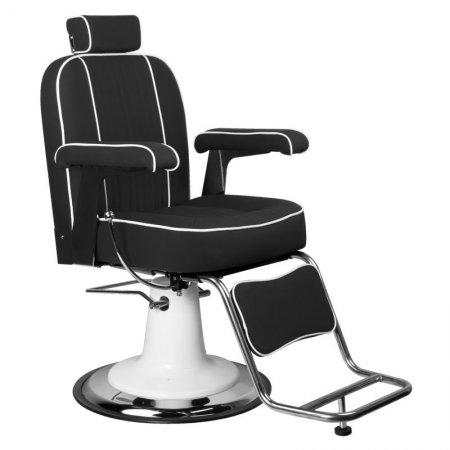 Fotel barberski Gabbiano Amadeo, czarny