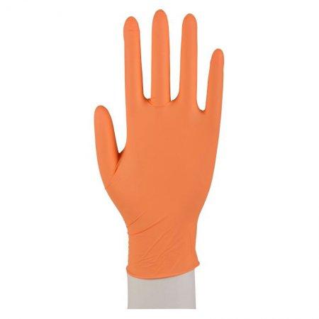 Abena, rękawiczki nitrylowe bezpudrowe, pomarańczowe, 100 sztuk