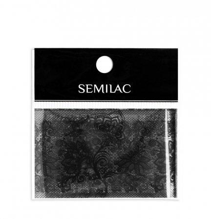 Semilac, folia transferowa do zdobienia paznokci, Black Lace