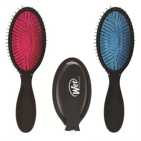 Wet Brush Pop Fold, szczotka rozplątująca włosy ze składaną rączką, różne kolory