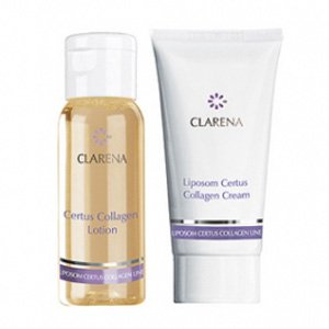 Clarena Liposom Certus Collagen, mini zestaw lotion+krem, 30ml+15mll
