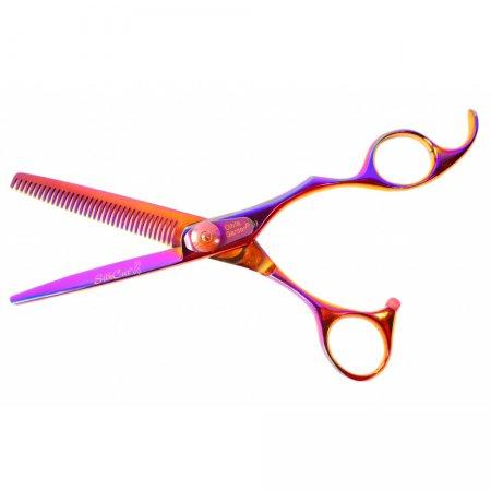 """Olivia Garden SilkCut Rainbow, degażówki fryzjerskie, 6,35"""""""