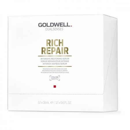 Goldwell Dualsenses Rich Repair, serum intensywnie odbudowujące, 12x18ml
