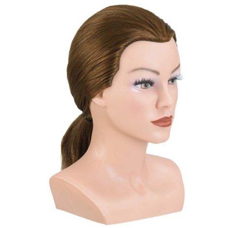 Bergmann główka treningowa Lady, średni blond, 100% naturalne włosy, 20-25cm, ref. 091026