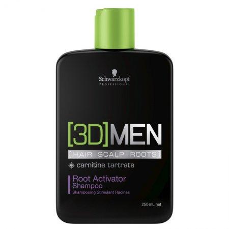 Schwarzkopf 3DMen, szampon na porost włosów dla mężczyzn, 250ml