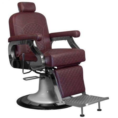 Fotel barberski Gabbiano Marco, bordowy
