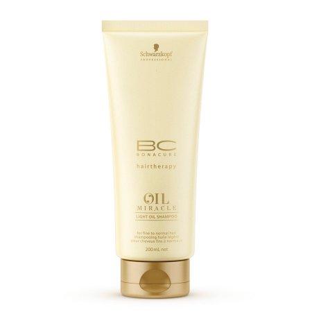 Schwarzkopf BC Oil Miracle Marula Oil, szampon z olejkiem z Maruli do włosów cienkich, 200ml