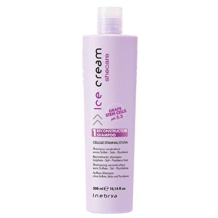 Inebrya Shecare, rekonstruujący szampon z keratyną, 300ml