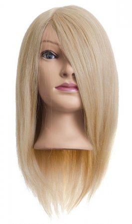 Efalock, główka treningowa Emma, włosy ludzkie, złoty blond, 40cm