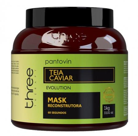 Three Therapy Teia Caviar, odbudowująca maska po nanoplastii, 1000g