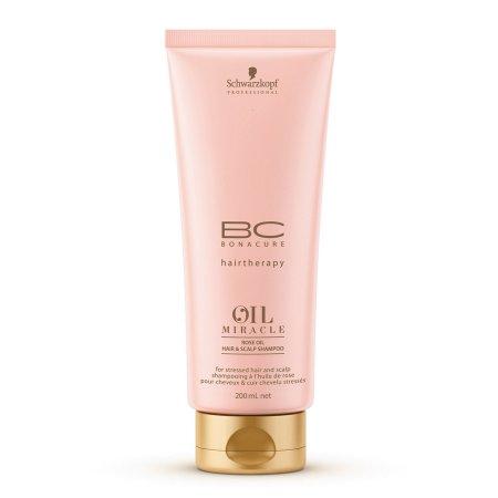 Schwarzkopf BC Oil Miracle Rose, szampon pielęgnacyjny do włosów i skóry głowy, 200ml