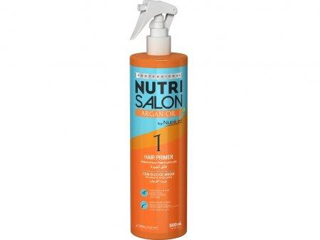 NutriSalon Argan Oil, podkład przygotowujący włosy, krok 1, 500ml