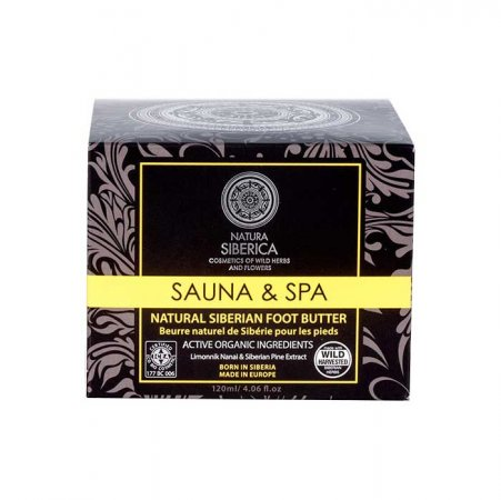 Syberyjskie masło do stóp Natura Siberica Sauna & SPA, 120ml - namoknięte opakowanie