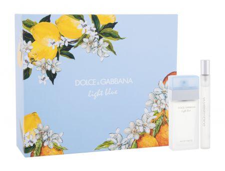 Dolce&Gabbana Light Blue, zestaw: Edt 25 ml + Edt 10 ml (W)
