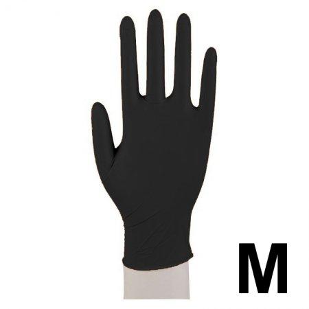 Abena, rękawiczki nitrylowe bezpudrowe, rozmiar M, czarne, 200 sztuk