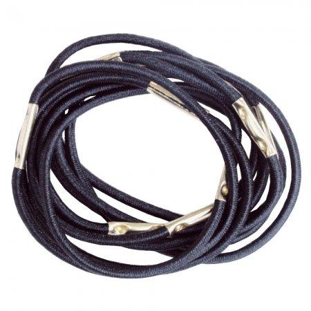 Efalock gumki do włosów, duże, cienkie, czarne, 10 szt.