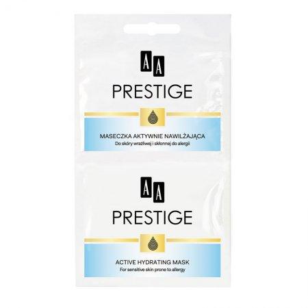 AA Prestige, aktywnie nawilżajaca maseczka do twarzy z kwasem hialuronowym, saszetka, 2x5ml