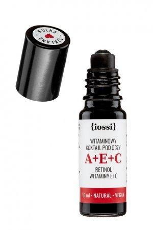 Iossi, witaminowy koktajl pod oczy z wit. A+E+C. szklana kulka, 10ml