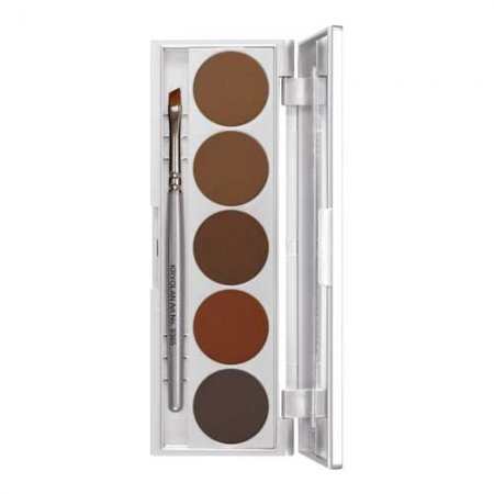 Kryolan Eyebrow Powder Palette, paletka 5 cieni do brwi, 10g