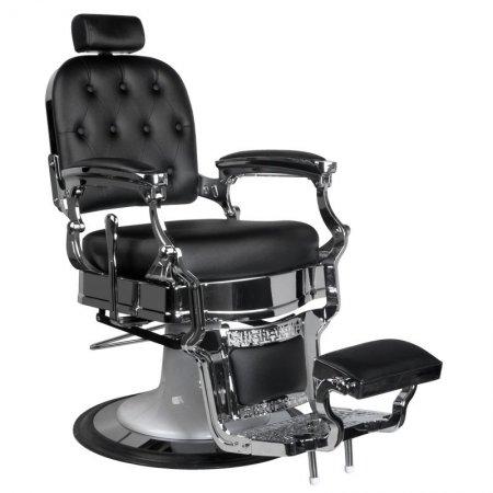 Fotel barberski Gabbiano Ernesto, czarny