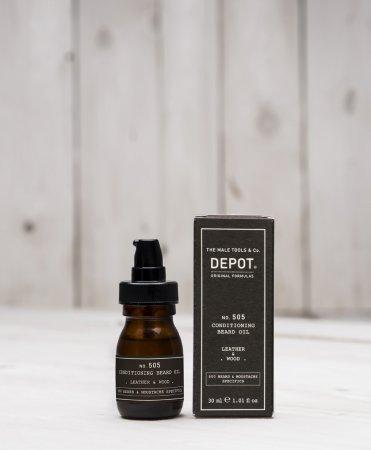 Depot No. 505, olejek odżywczy do brody, skóra i drewno, 30ml
