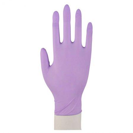 Abena, rękawiczki nitrylowe bezpudrowe, liliowe, 100 sztuk