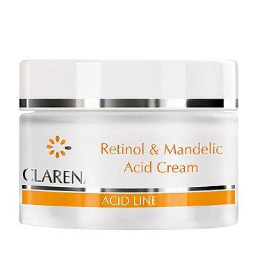 Clarena Acid Line, krem z retinolem i kwasem migdałowym, skóra dojrzała i poszarzała, 50ml