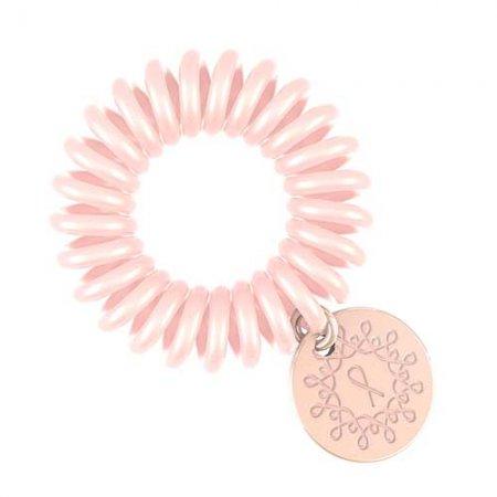 Invisibobble Pink Heroes, różowa gumka z przywieszką