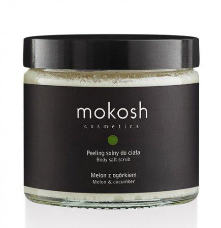 Mokosh, peeling solny do ciała, melon z ogórkiem, 300g