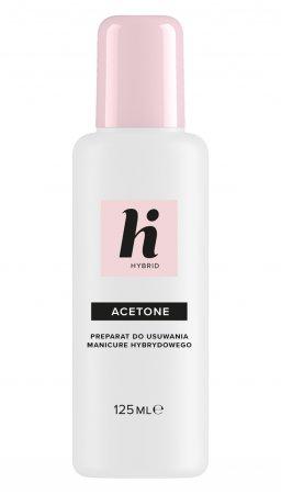 hi hybrid, acetone, preparat do usuwania lakieru hybrydowego, 125ml