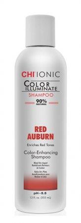 CHI Color Illuminate, szampon intensyfikujący czerwone odcienie, Red Aburn, 355ml