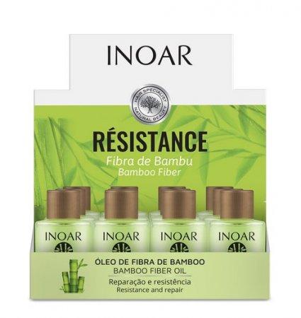 Inoar Resistance Bambu, olejek do włosów osłabionych z ekstraktem z bambusa, 12x7ml