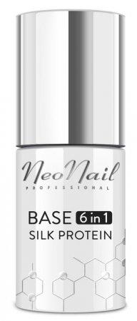 NeoNail Base 6in1 Silk Protein, baza proteinowa pod lakier, 7,2ml