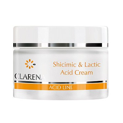 Clarena Acid Line, krem z kwasem szikimowym i mlekowym, cera sucha i odwodniona, 50ml