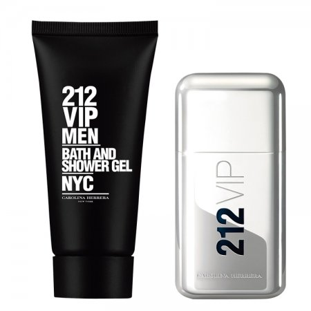 Carolina Herrera 212 VIP Men, zestaw perfum Edt 50ml + 100ml Żel pod prysznic (M)