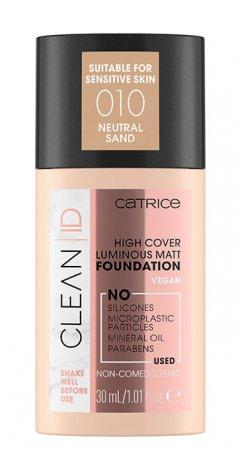 Catrice Clean ID, podkład matujący i rozświetlający, Neutral Sand 010, 30ml
