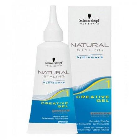 Schwarzkopf Natural Styling Creative Gel, żel do trwałej ondulacji podnoszący włosy u nasady, 1, 50ml