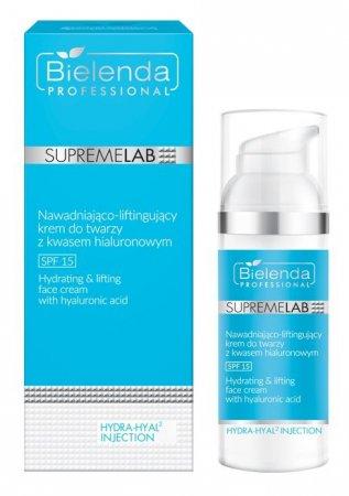 Bielenda Professional Supremelab, Hydra-Hyal2, krem do twarzy z kwasem hialuronowym SPF 15, 50ml